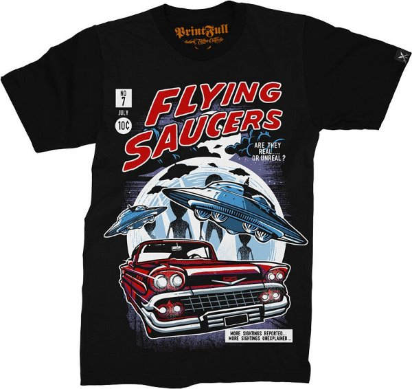 Camiseta Printfull Flying Saucers 2