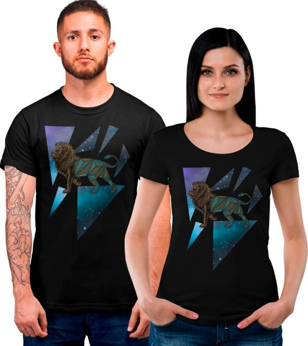 Camiseta Printfull Lion Diamond