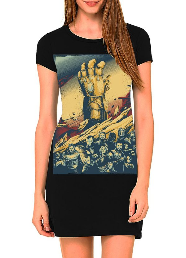 Vestido Printfull tipo camiseta t-shirt dress Infinity War