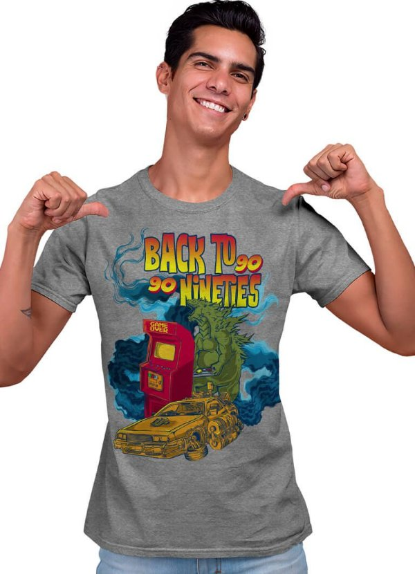 Camiseta Printfull Back to 90´s - masculina