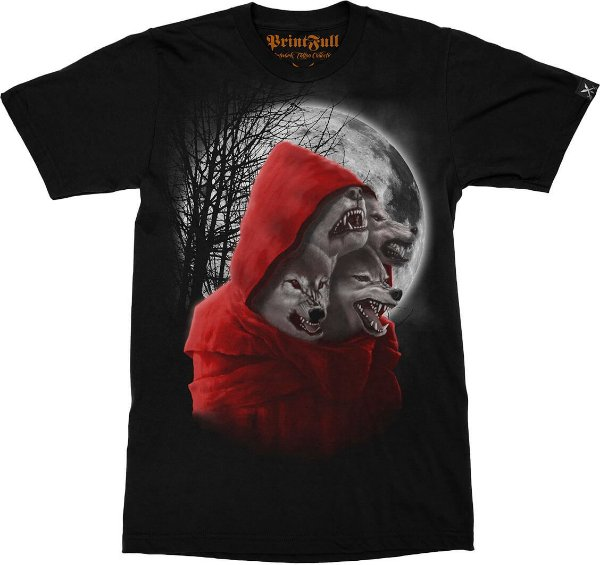 Camiseta Printfull Wolfhood