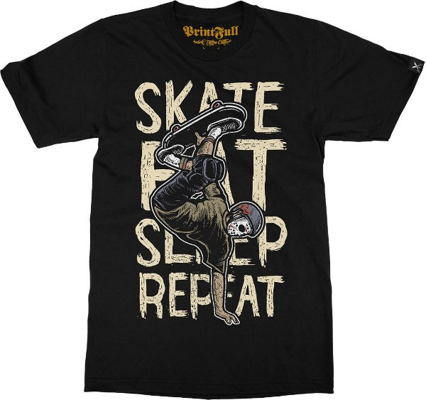 Camiseta Printfull Skate Eat Sleep Repeat