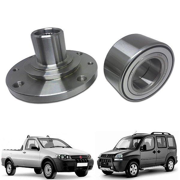 Cubo Roda Dianteira + Rolamento Doblo Strada Idea S/abs