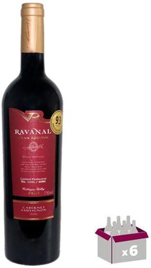 Kit C/ 06 Grfs. - Ravanal Limited Edition Gran Reserva Cabernet Sauvignon 2016
