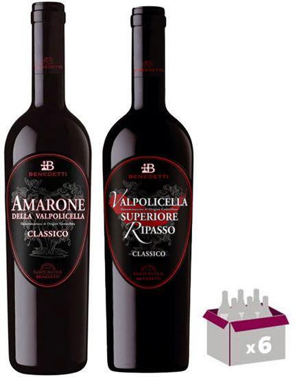 KIT Amarone e Valpolicella Superiore Cantine Benedetti - 06 garrafas