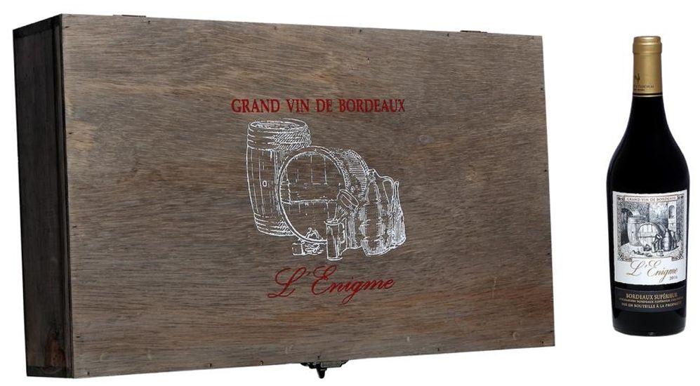 Cx. de Madeira C/06 Grfs - L'Enigme Bordeaux Supérieur 2016