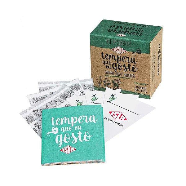 Kit Sementes Tempera que eu gosto Cebolinha Manjericão Salsa