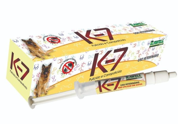 Carrapaticida E Pulicida K-7 Rawell 2,5ml
