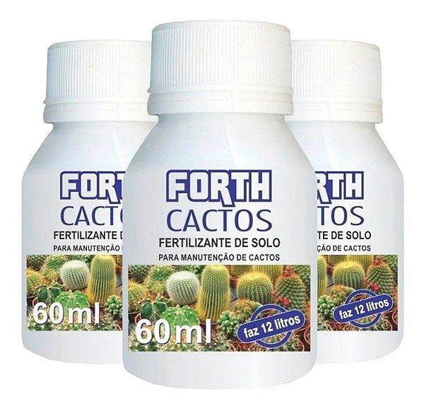 Fertilizante Adubo Forth Cactos - 60 Ml - Rende 12 Litros
