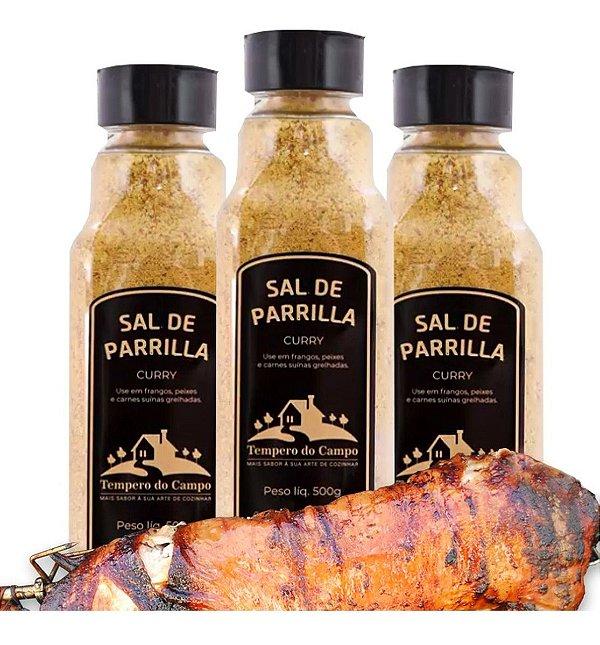 Sal De Parrilla Curry 500g Frango Peixe E Carne Suina 1 Un