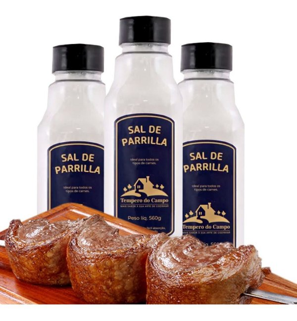 Sal De Parrilla 560g Ideal Para Todos Tipos De Carne