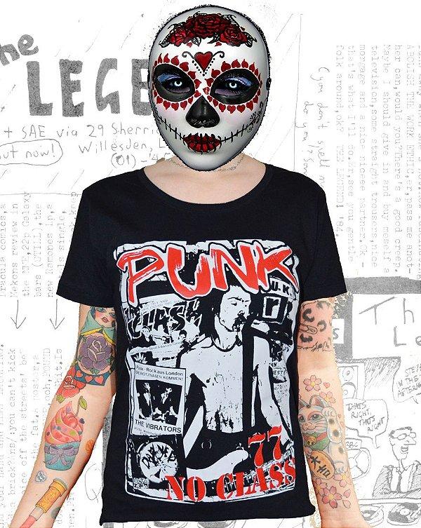 Camiseta Punk 77 no class - baby look