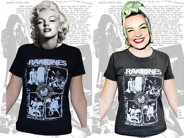 Camiseta Ramones baby look