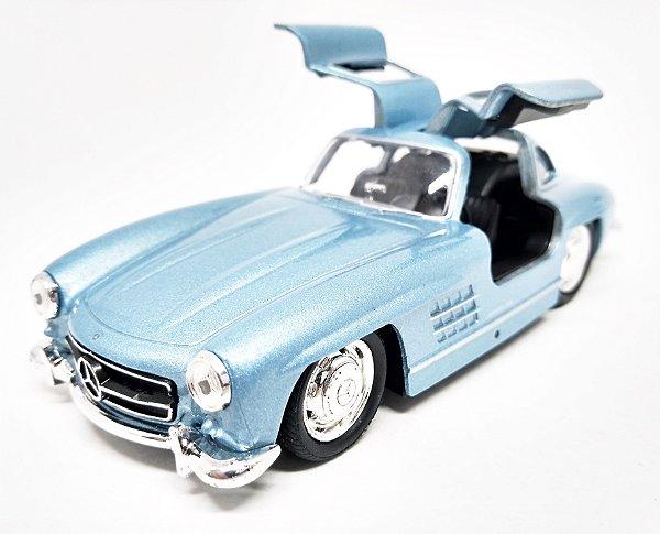 Mercedes Benz 300 SL Azul - Escala 1/38 - 12 CM
