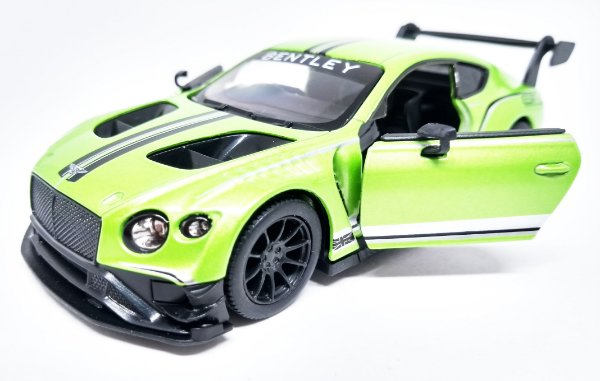 Bentley Continental GT3  Verde - Escala 1/38 - 12 CM
