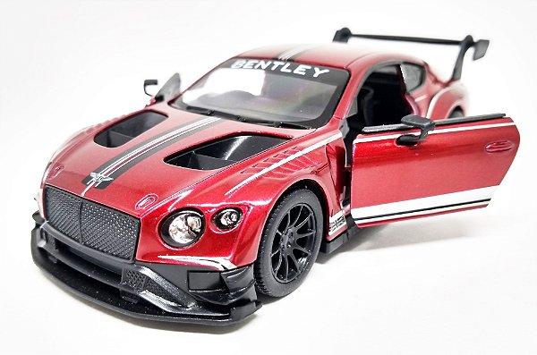 Bentley Continental GT3  Vinho - Escala 1/38 - 12 CM