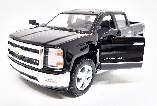 Chevrolet Silverado Preta - Escala 1/46 13 CM