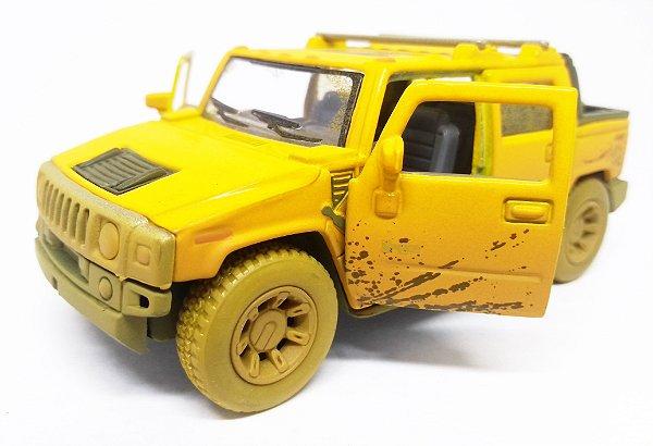 Hummer H2 SUT 2005  Amarelo - ESCALA 1/40 - 12 CM