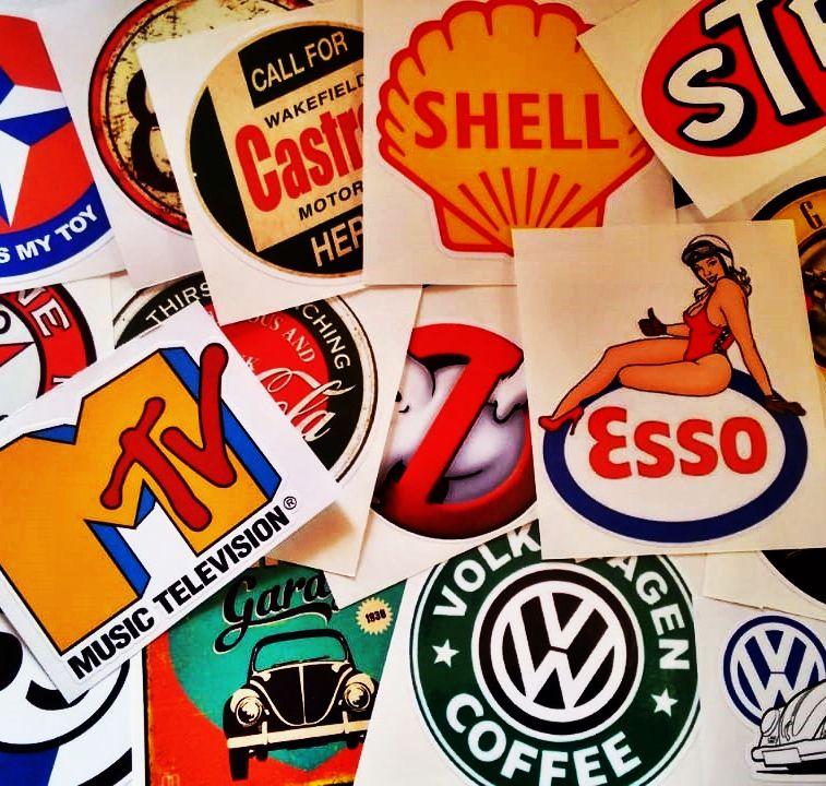 Adesivos Vintage - Retrô -  450 MODELOS