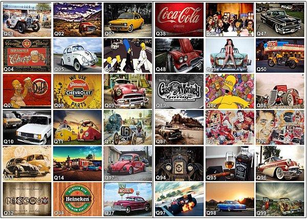Placas Decorativas Vintage - Retrô 20x30 em MDF - 235 MODELOS!