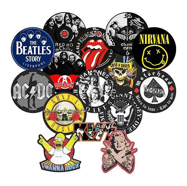 Adesivos Bandas de Rock - Vintage - Retrô