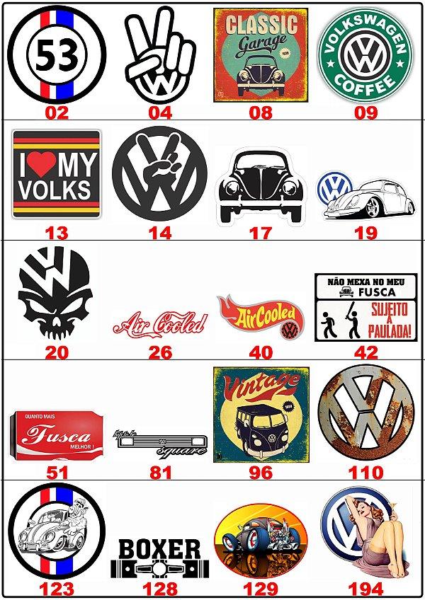 Adesivos Volkswagen - Vintage - Retrô