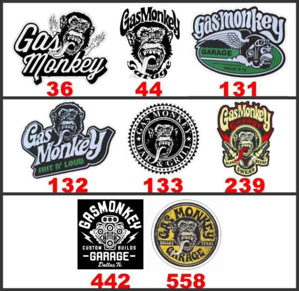 Adesivos Gas Monkey Garage