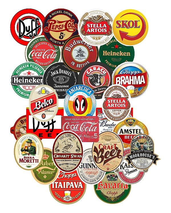 Adesivos Rótulos De Cerveja Refrigerantes Bebidas Vintage - Retrô