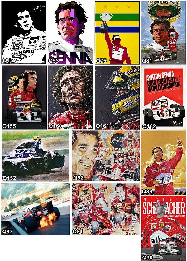 Placas Decorativas Ayrton Senna - Michael Schumacher F1