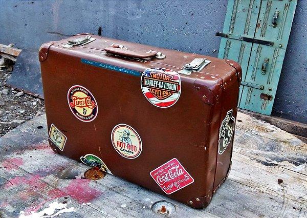 Adesivos Vintage - Retrô Malas Antigas