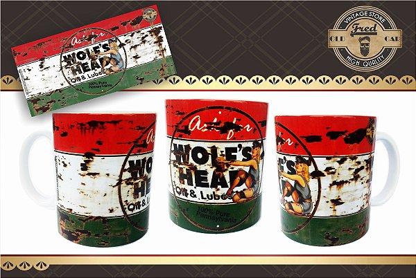 Caneca Vintage Wolfs Head