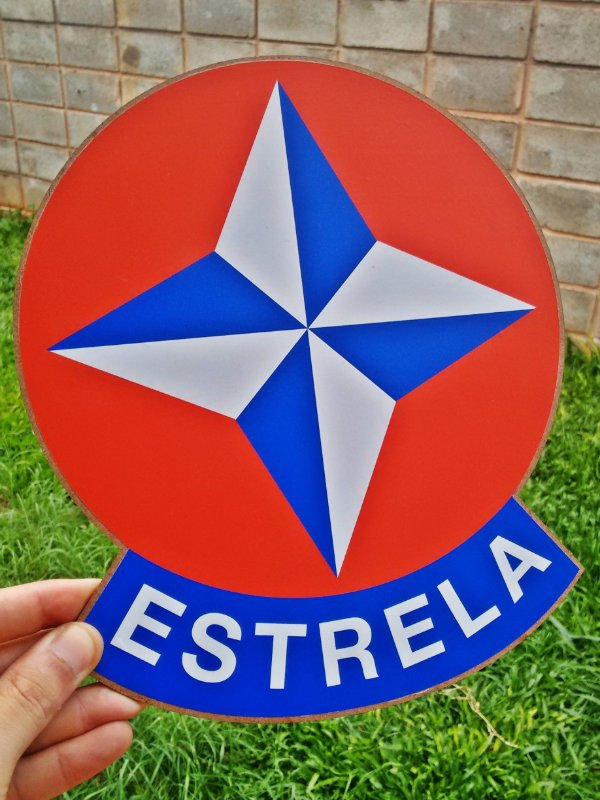Placa Decorativa Estrela