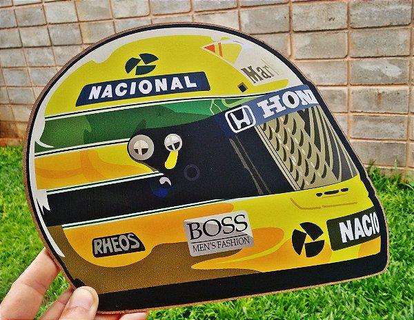 Placa Decorativa Capacete Ayrton Senna