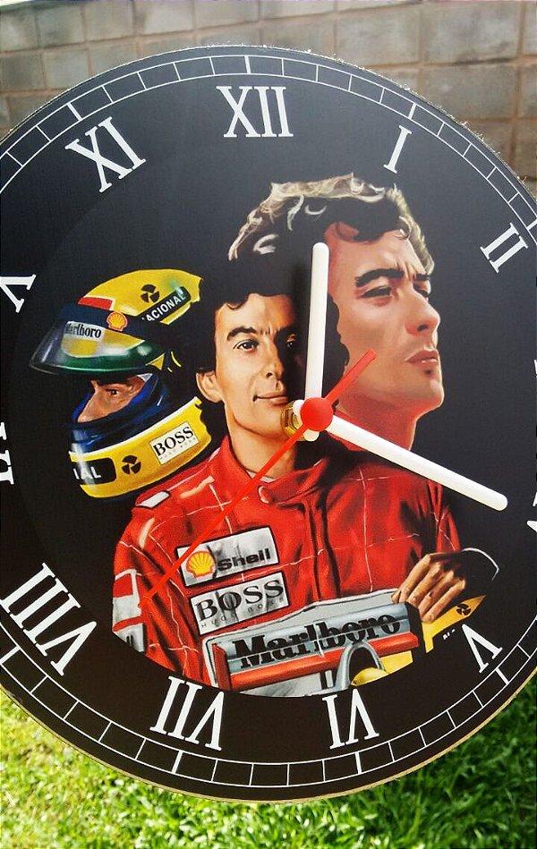 Relógio de Parede Ayrton Senna - Com Pilha