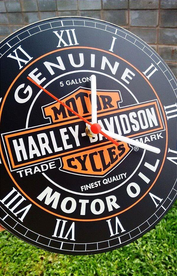 Relógio de Parede Harley Davidson - Com Pilha