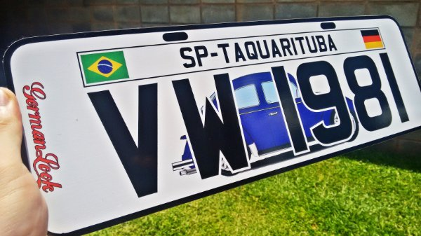 Placa Decorativa Personalizada - Para Carros