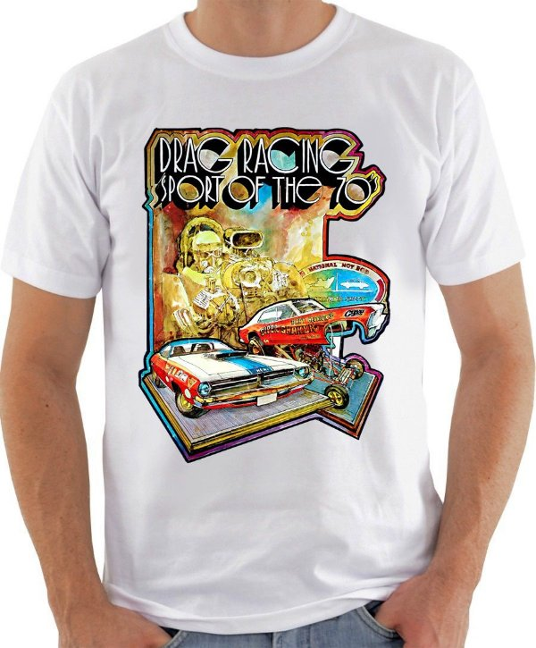 Camiseta Drag Racing 70's