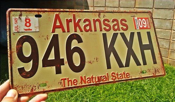 Placa Decorativa Arkansas em Metal