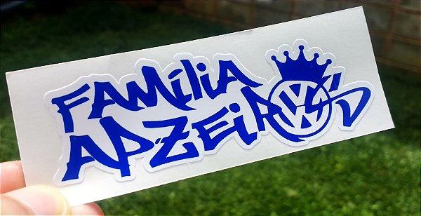 Adesivo Família Apzeiros Azul 10x3,5 CM