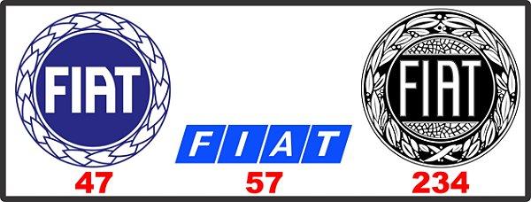 Adesivos Fiat - Vintage Retrô
