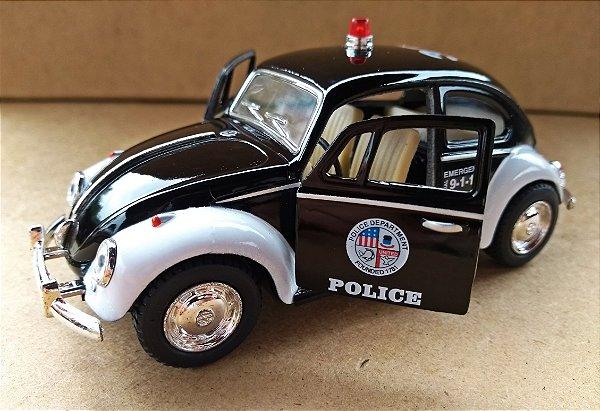 Volkswagen Fusca Police - Escala 1/32 - 13 CM