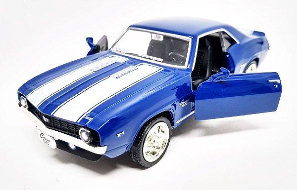 Chevrolet Camaro SS 1969 Azul - Escala 1/38 - 12 CM