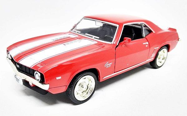 Chevrolet Camaro SS 1969 Vermelho - Escala 1/38 - 12 CM