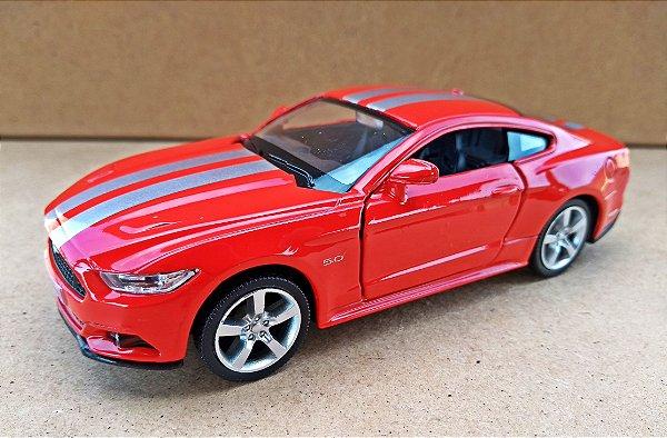 Ford Mustang GT 2015 Vermelho - Escala 1/38 - 13 CM