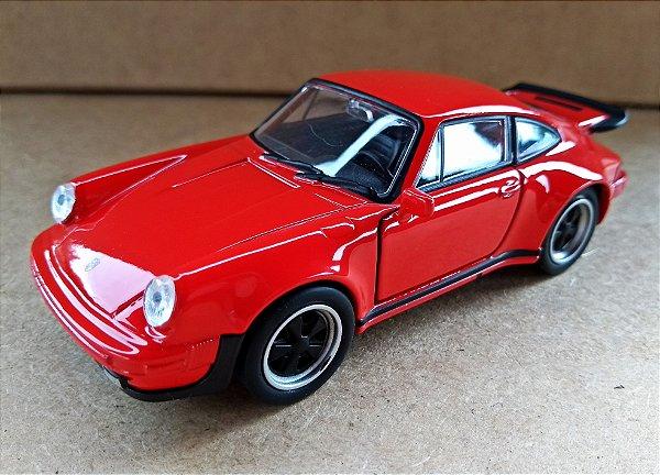 Porsche 911 Turbo Vermelho - Escala 1/32 12 CM