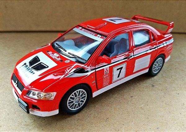 Mitsubishi Lancer Evolution VII Vermelho - Escala 1/36 13 CM