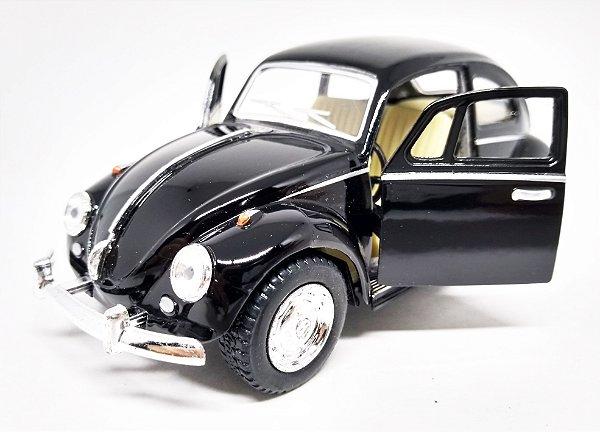 Volkswagen Fusca Preto  - Escala 1/32 - 13 CM