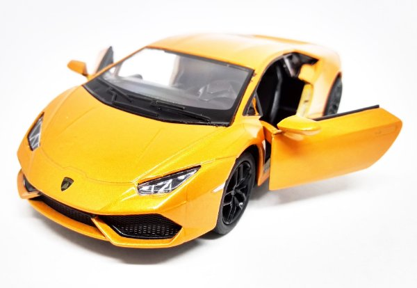 Lamborghini Hurácan Laranja - Escala 1/36 13 CM