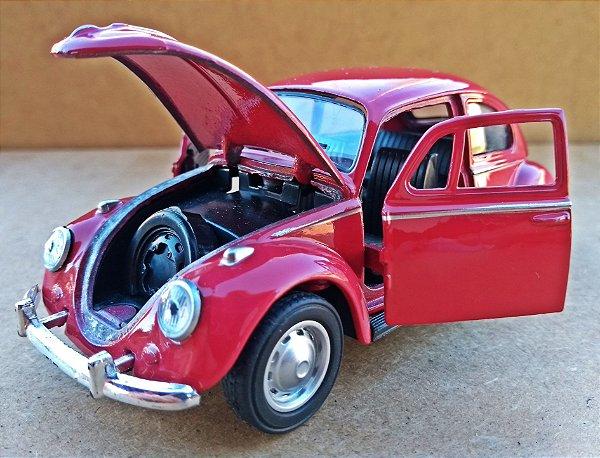 Volkswagen Fusca Vermelho Escuro - Escala 1/32 - 12 CM