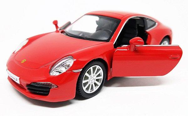 Porsche 911 Carrera S Vermelho - Escala 1/32 13 CM